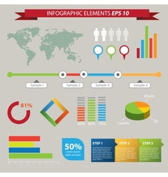 Set elements infographics vector
