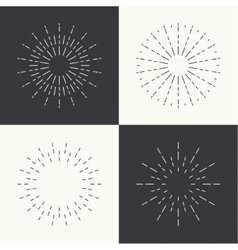 Set of vintage hipster banners insignias radial vector image