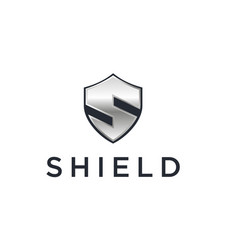 shield secure or initial s with metal vector image