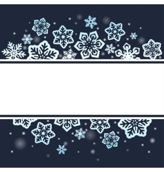 Snowflakes on dark Christmas background vector image