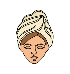 spa woman face vector image
