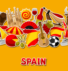 spain seamless pattern spanish traditional vector image