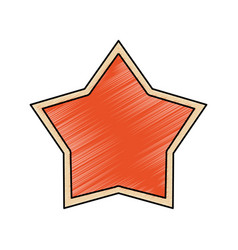 Star shape symbol vector