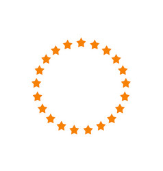 Stars in circle shape idea of vector