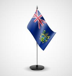 Table flag of Pitcairn Islands vector