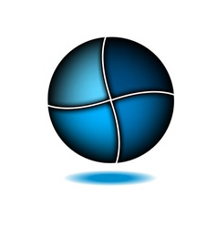 Technology abstract blue logo design template vector