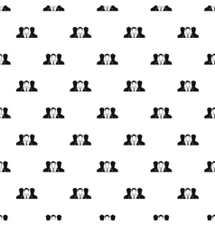 Unidentified male avatars pattern simple style vector