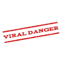 Viral Danger Watermark Stamp vector