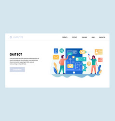web site design template online chat bot vector image