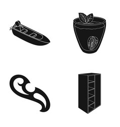 Wood furniture design and other web icon in vector