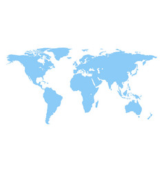 world map isolated on white background fla vector image