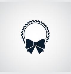 xmas wreath icon simple winter sign vector image