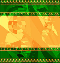 Yellow green colored image of frame with abstract vector