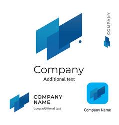 abstract technological logo design modern clean vector image