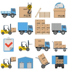 Flat Icons Shipping vector image vector image