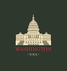 image us capitol building in washington dc vector image vector image