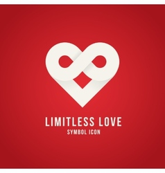 Limitless Love Concept Symbol Icon Logo Template vector image vector image