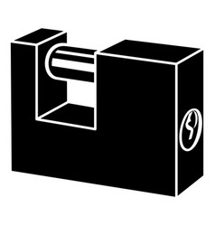 padlock icon simple style vector image