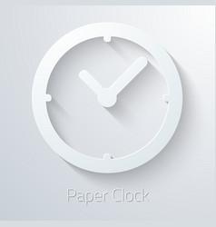 Paper Clock Watch Icon vector image vector image