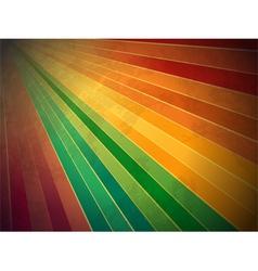 Retro rainbow starburst background vector