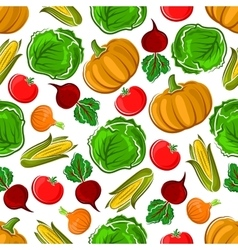 Ripe autumnal veggies seamless pattern vector image vector image