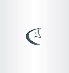 stylized wolf logo icon vector image vector image