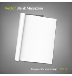 blank page of magazine on grey background vector image