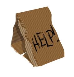 Cardboard sign vector