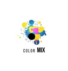 CMYK logo template vector image vector image