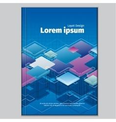 Modern abstract brochure book or flyer design vector image