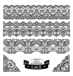 Set of lace patterns vector image