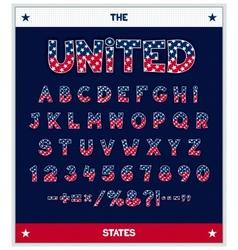 Stylized font design vector image