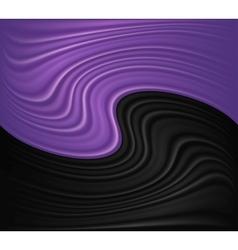 Wave violet and black background vector image