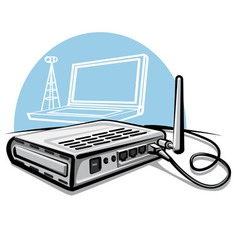 wireless router vector image vector image