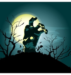zombie hand background vector image
