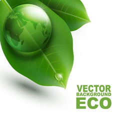 environmental element with transparent green ball vector image vector image