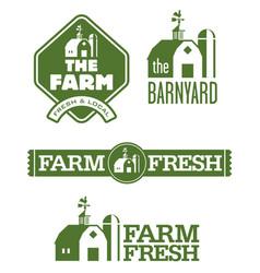 farm and barn logos vector image vector image