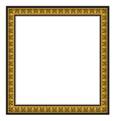 gold antique frame isolated on white background vector image vector image