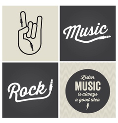 music type font music type font vector image vector image