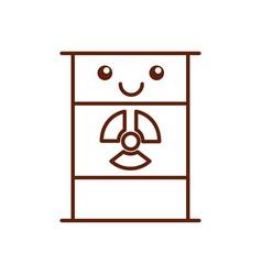 nuclear barrel kawaii character vector image vector image