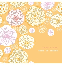 Warm day flowers corner frame pattern background vector image
