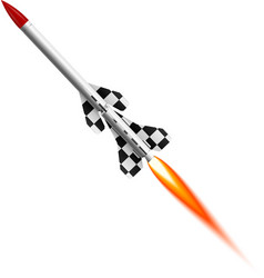 Flying two-stage rocket vector image vector image