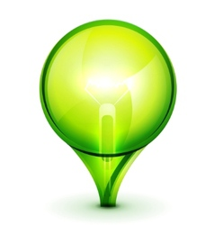 green light bublb energy saving concept vector image