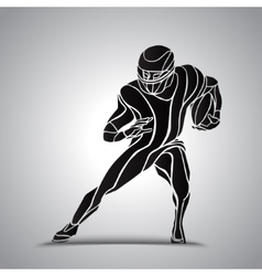 Abstract american football player vector