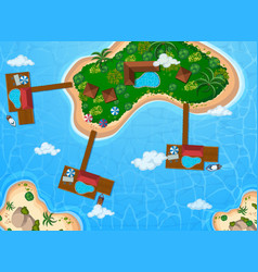 Aerial view island with buildings vector