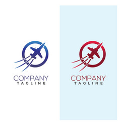 Aircraft fighter logo image template vector
