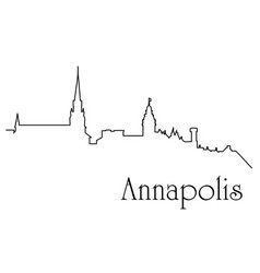 annapolis city one line drawing vector image