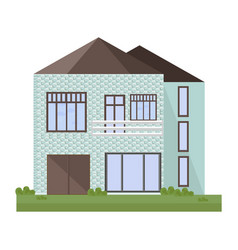 architecture facade building vector image