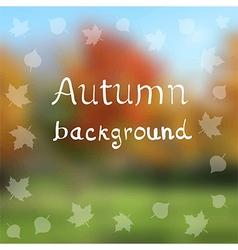 autumn backdrop vector image