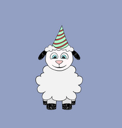baby lamb cartoon vector image